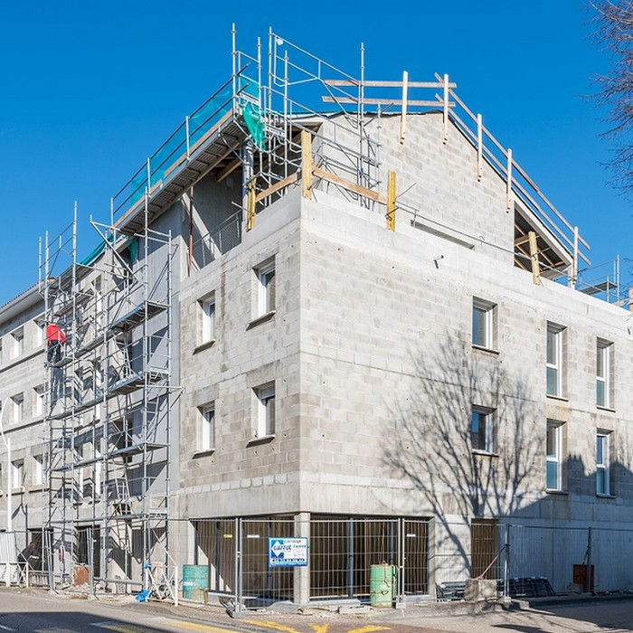 LE PALATIN chantier avant facade